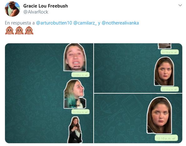 Stikers de Whatsapp con la cara de ivana el video viral