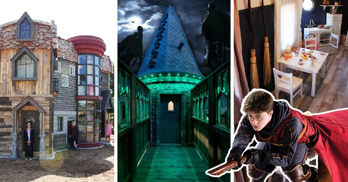 Estos abuelos construyeron una casa de juegos para su nieta inspirada en Harry Potter