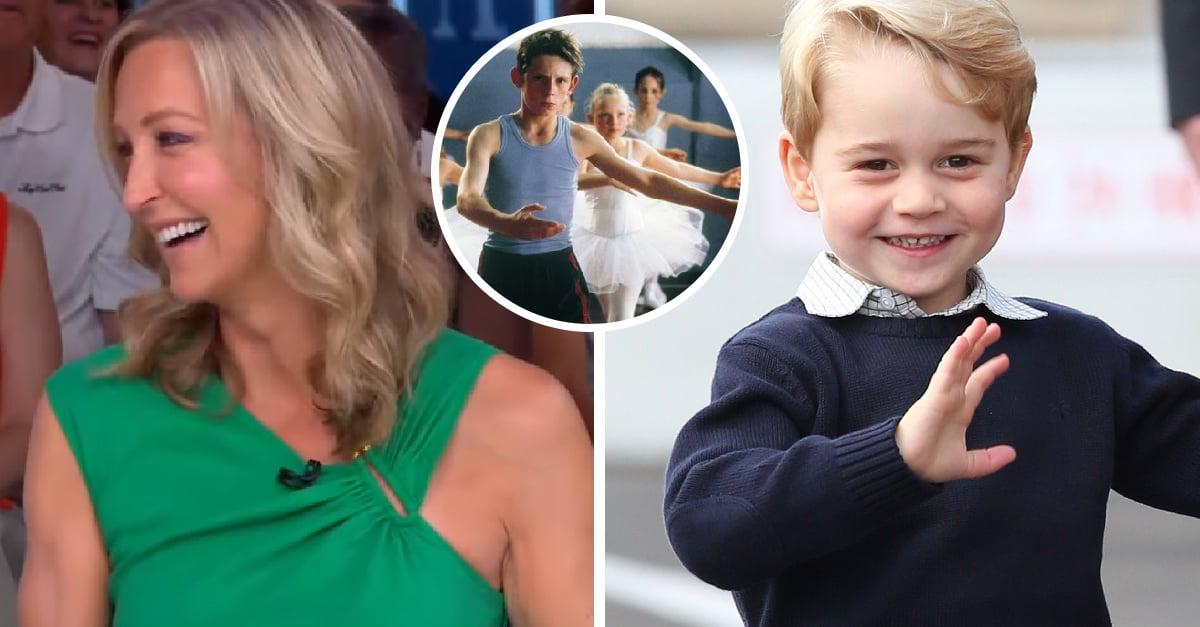Conductora de TV se ríe del príncipe George por tomar clases de ballet