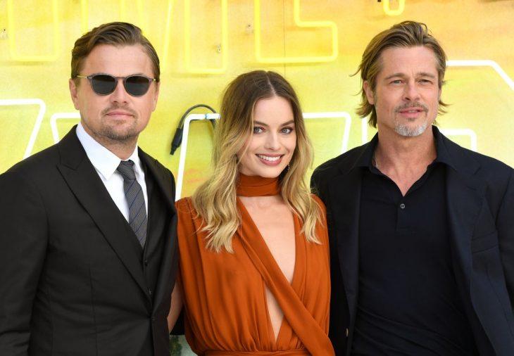 Leonardo DiCaprio, Margot Robbie y Brad Pitt en Érase una vez en... Hollywood
