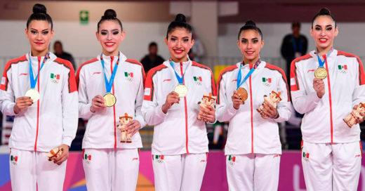 Quinteto mexicano de gimnasia rítmica hace historia en Lima 2019: suma dos preseas de oro y una de plata