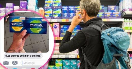 Mujer le pidió a su novio que le comprara tampones: la reacción del chico da ternura