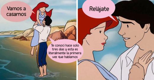 Así serían algunas escenas de Disney si sucedieran de manera realista