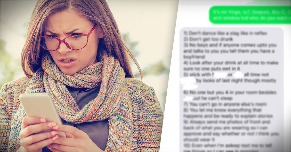 Mujer publica lista tóxica que su exnovio le pedía para salir de fiesta
