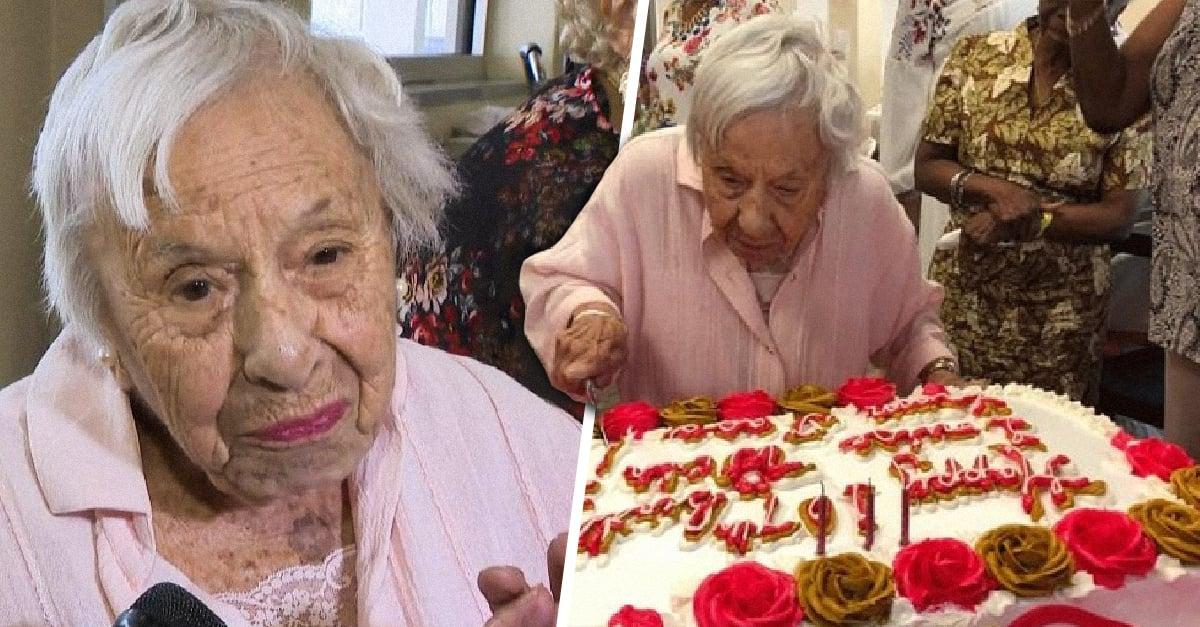 Mujer de 107 años revela que no casarse es el secreto de su larga vida