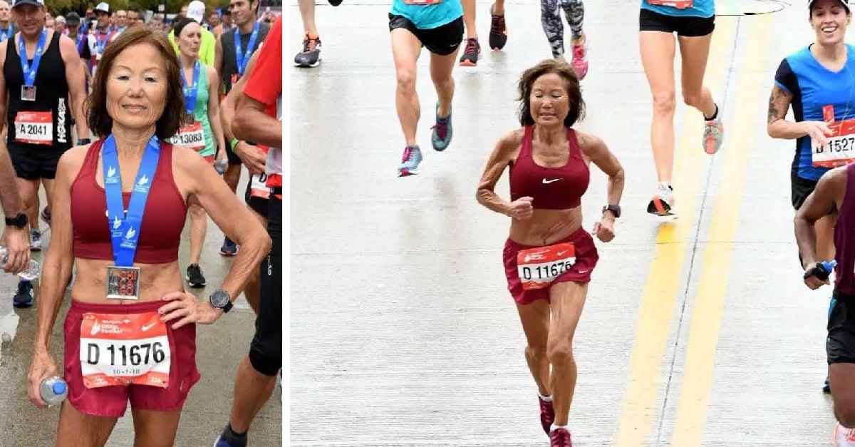 Mujer de 71 años rompe récord mundial en medio maratón de Ohio