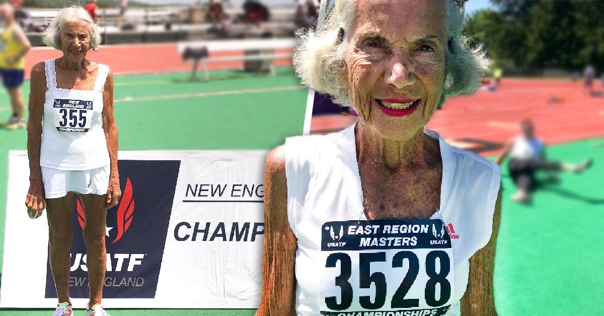 Mujer de 91 años rompe récord mundial de atletismo en 400 metros