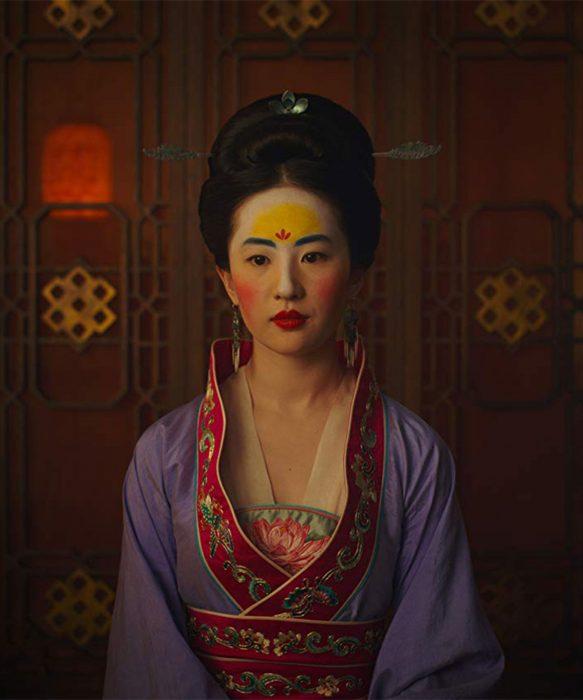 Liu Yifei en su personaje de Mulán