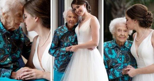 Su último deseo era verla caminar al altar, así que viajó para visitarla con su vestido de novia