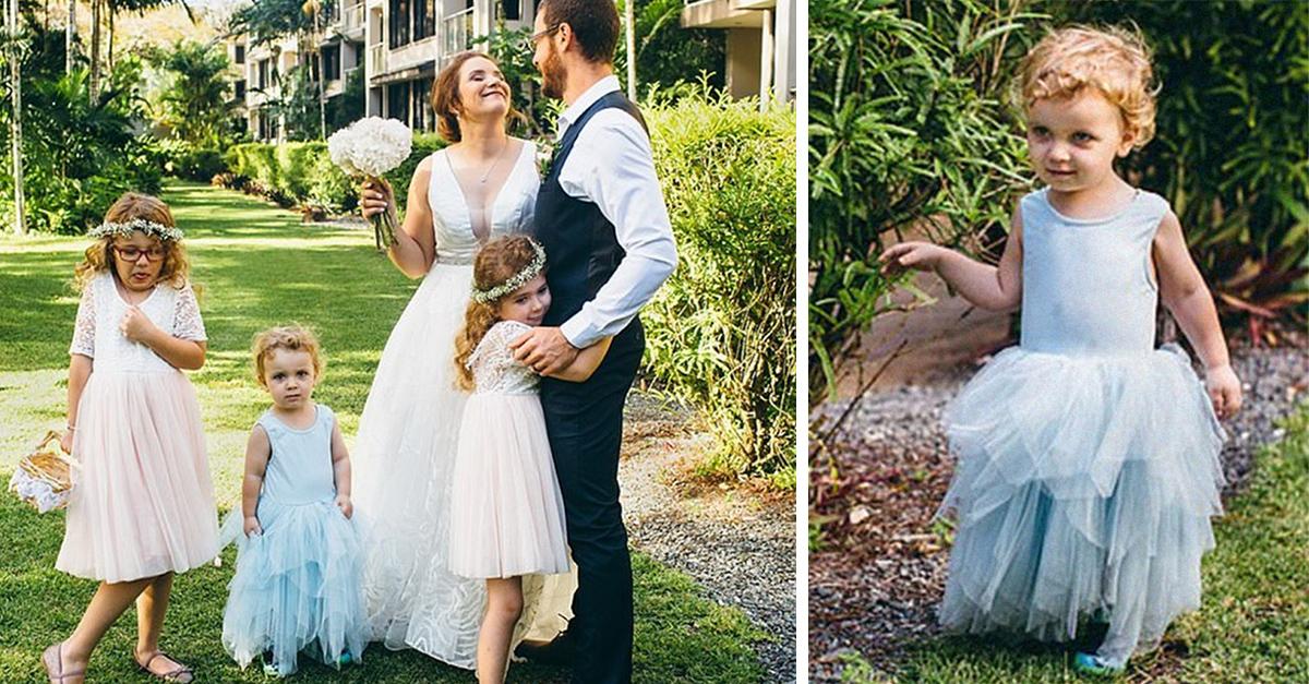 Padres dejan que su hijo use vestido en su boda: 'es un niño feliz'