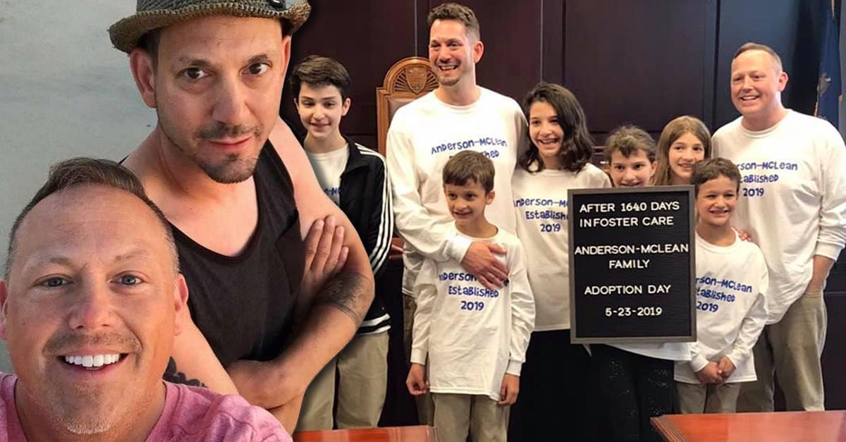Pareja gay adopta a seis niños en Estados Unidos