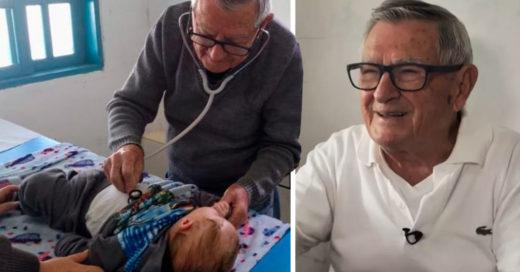 Pediatra atiende a niños de manera gratuita; los considera sus nietos