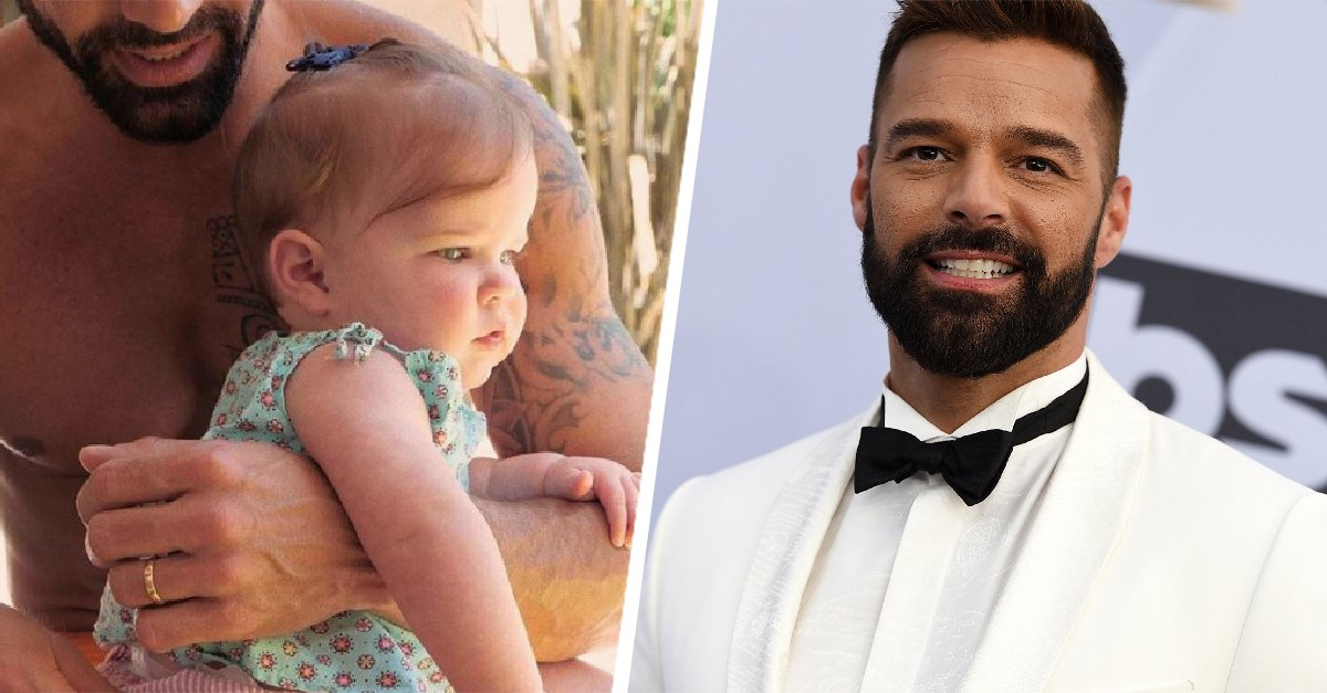 Ricky Martin presentó a su hija Lucía en Instagram