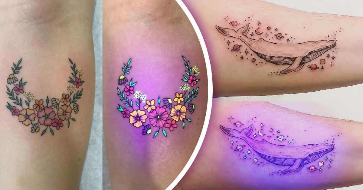 15 Tatuajes con efecto ultravioleta porque nadie brilla más que tú