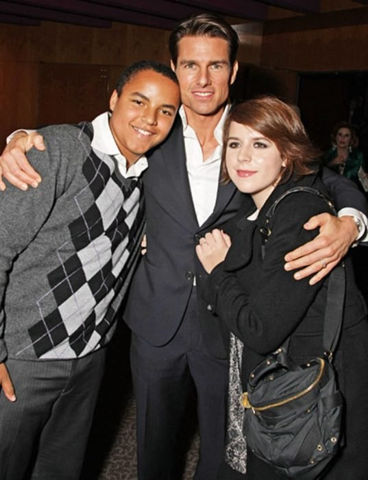 Tom Cruise y sus hijos Isabella y Connor
