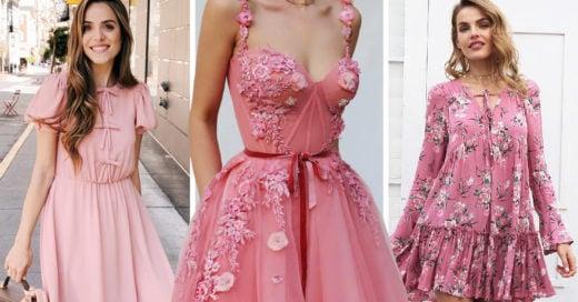 20 Vestidos rosas para darle un toque superfemenino a tu look