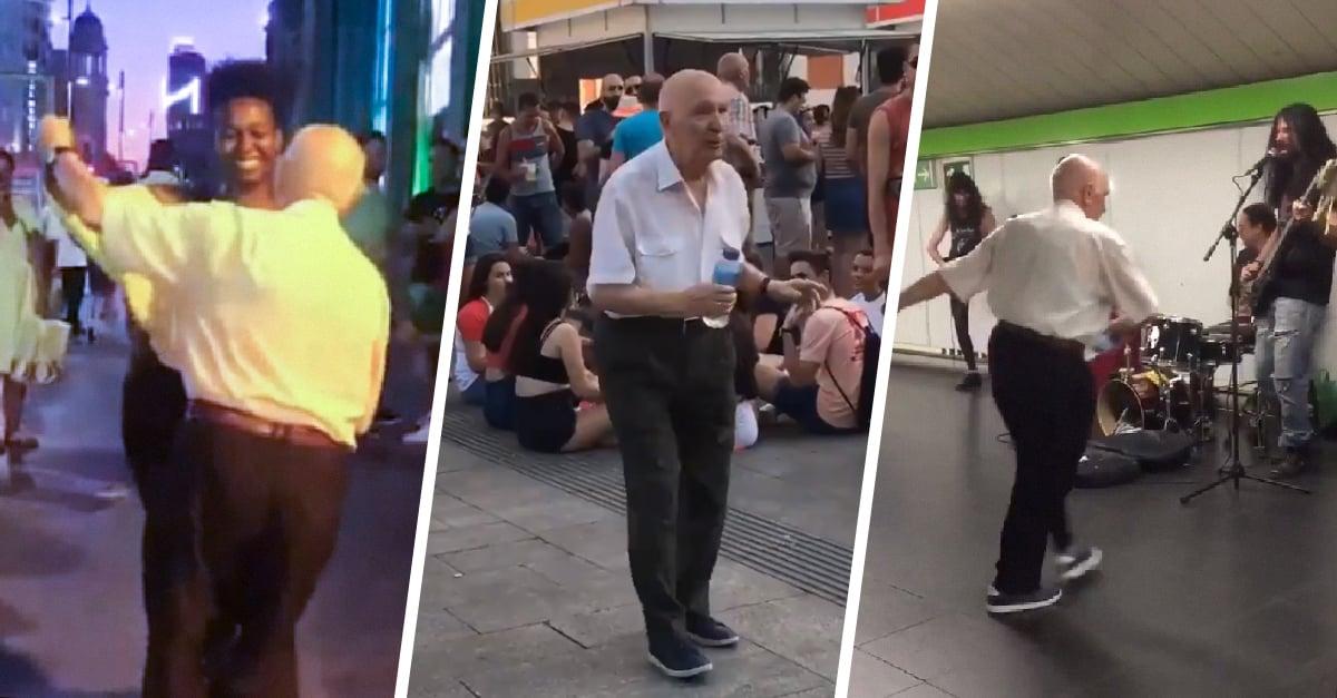 Mariano, el abuelito que llena de ritmo las calles de Madrid