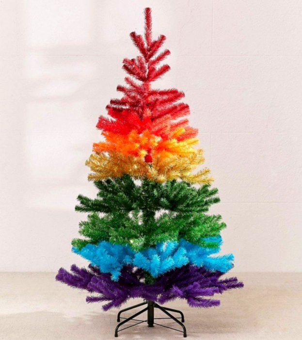 Árbol de navidad de colores de arcoíris