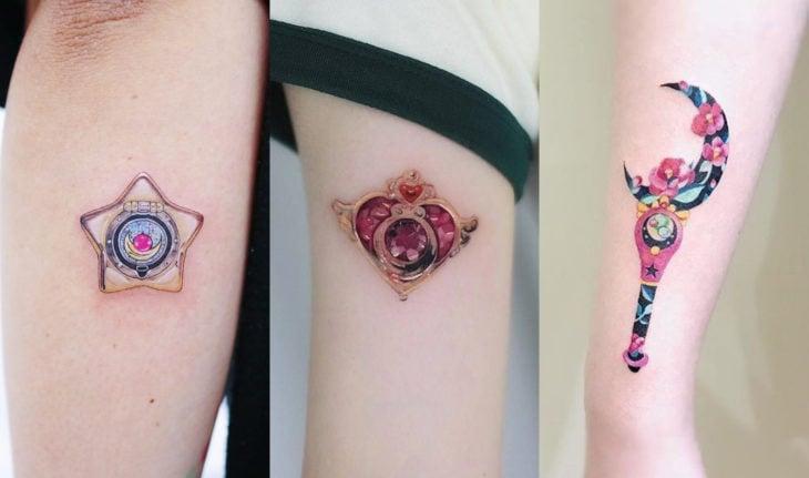 Tatuajes de Sailor Moon; tatuaje de cetro lunar