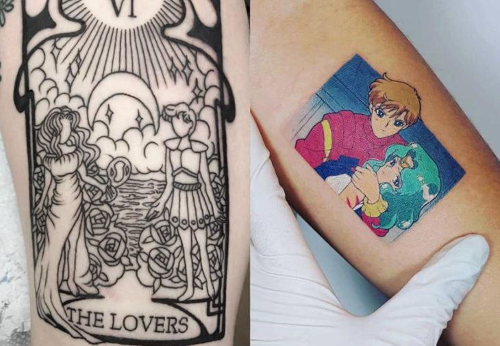 Tatuajes de Sailor Moon; tatuaje de Urano y Neptuno, Michiru y Haruka