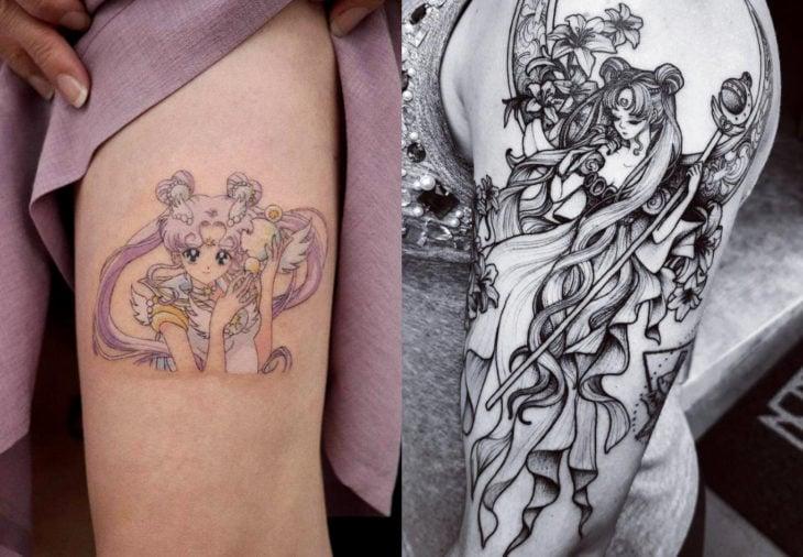 Tatuajes de Sailor Moon; tatuaje de reina Serenity, Serena Tsukino