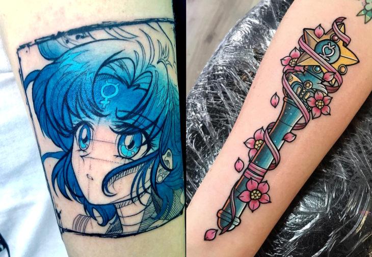 Tatuajes de Sailor Moon; tatuaje de Mercurio, Ami