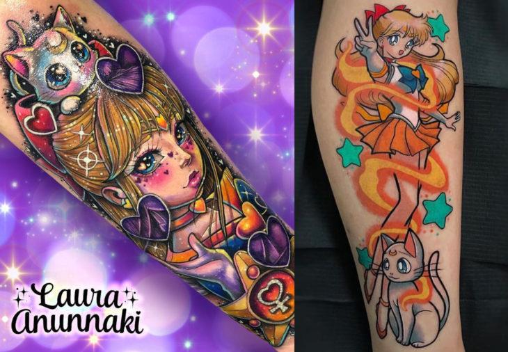Tatuajes de Sailor Moon; tatuaje de Venus, Mina