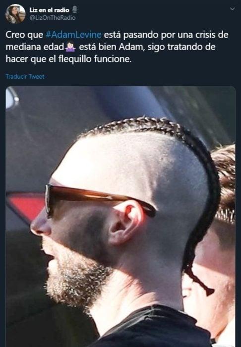 Tuit sobre el nuevo corte de cabello de Adam Levine