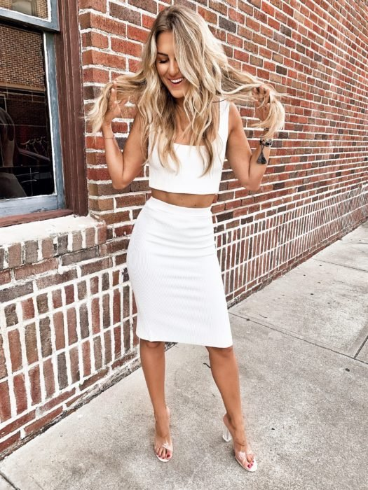 All white sexy