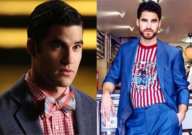 Darren Cris antes y después de su papel en glee en 2009 y después en 2019
