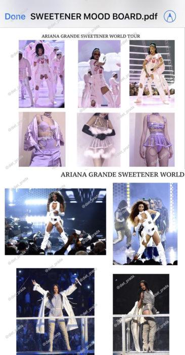 Imágenes que Diet Prada compartió de Ariana Grande copiando estilos