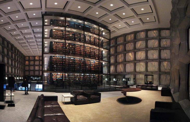 Biblioteca Beinecke de libros raros y manuscritos en New Haven, Estados Unidos