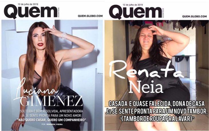 Renata Neia imita una portada de Quien