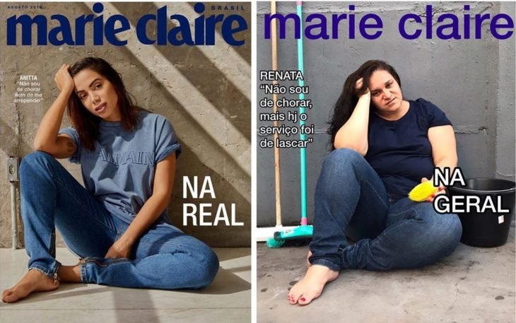 Renata Neia imita una portada de Marie Claire