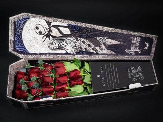 Caja de rosas de Rosehire inspirada en El extraño mundo de jack