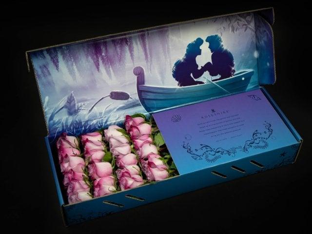 Caja de rosas de Rosehire inspirada en La Sirenita