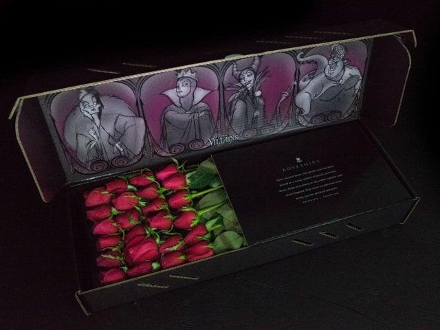 Caja de rosas de Rosehire inspirada en las villanas Disney