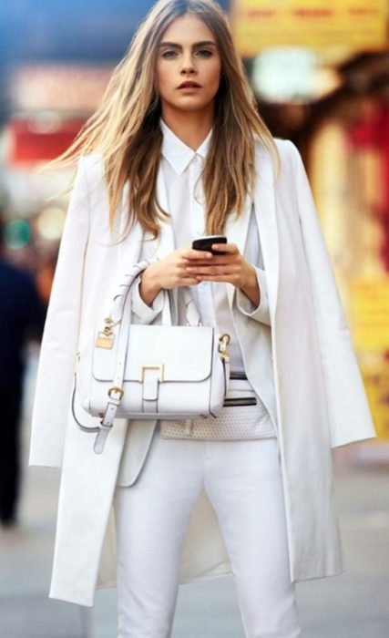 Cara Delevingne all white