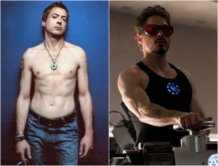 Robert Downey Jr. antes y después de entrar a Marvel