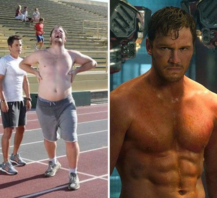 Chris Pratt antes y después de entrar a Marvel