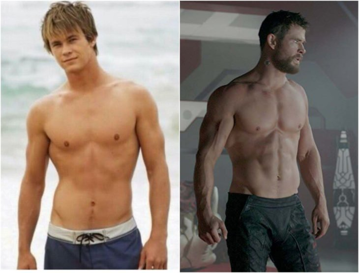 Chris Hemsworth antes y después de entrar a Marvel