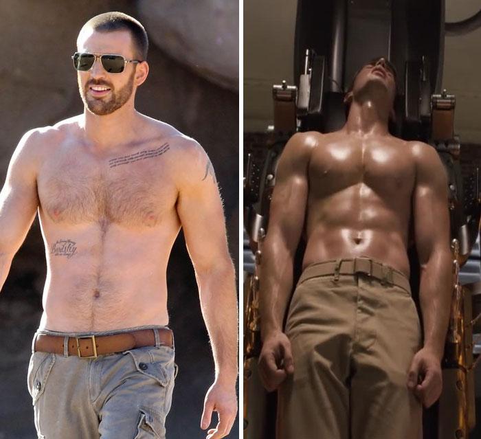 Chris Evans antes y después de entrar a Marvel