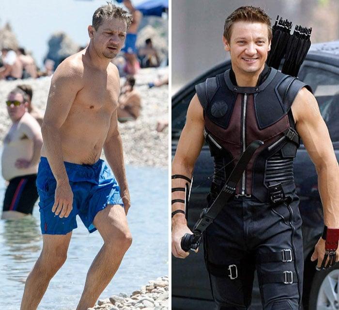 Jeremy Renner antes y después de entrar a Marvel