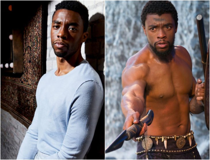 Chadwick Boseman antes y después de entrar a Marvel