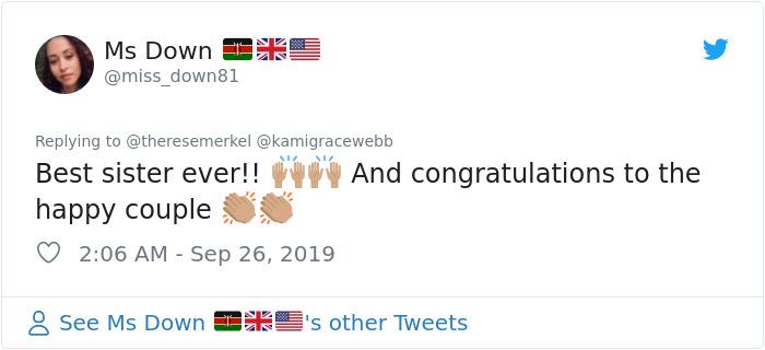 Comentarios en Twitter sobre una hermana que se vistió de arbusto para la propuesta de matrimonio de su hermana