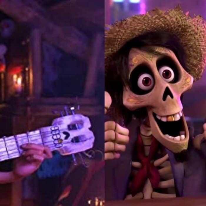 Escena de Coco, Pixar, Héctor sonriendo