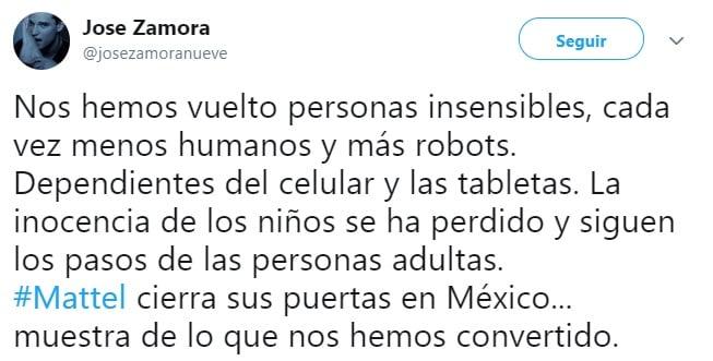 Comentario cierre Mattel en México 1