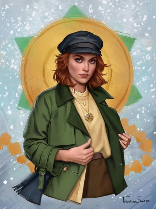 Ilustración de Fernanda Suárez inspirada en Anastasia, Disney
