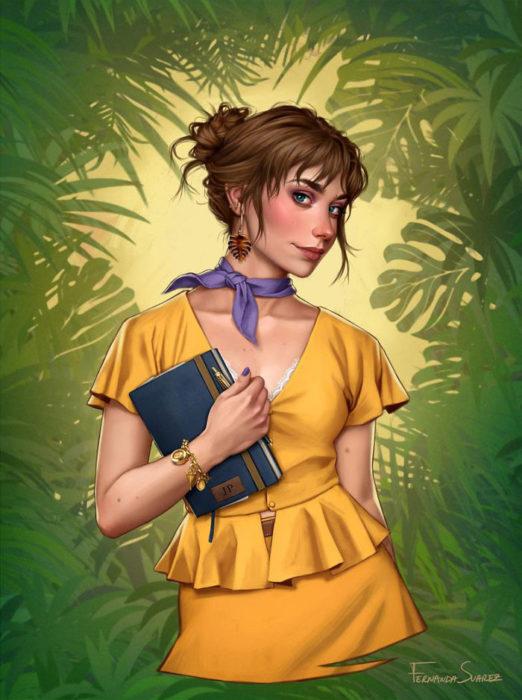 Ilustración de Fernanda Suárez inspirada en Jane, Tarzan, Disney