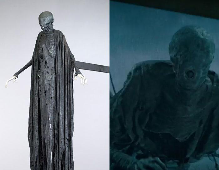Escena detrás de cámaras de los efectos especiales de Harry Potter, Dementor listo para atacar